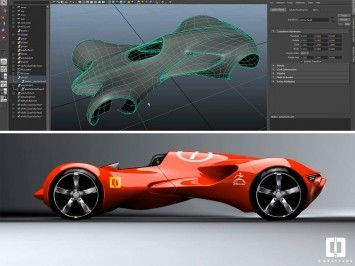 Resurfacing a ZBrush Concept Car Model