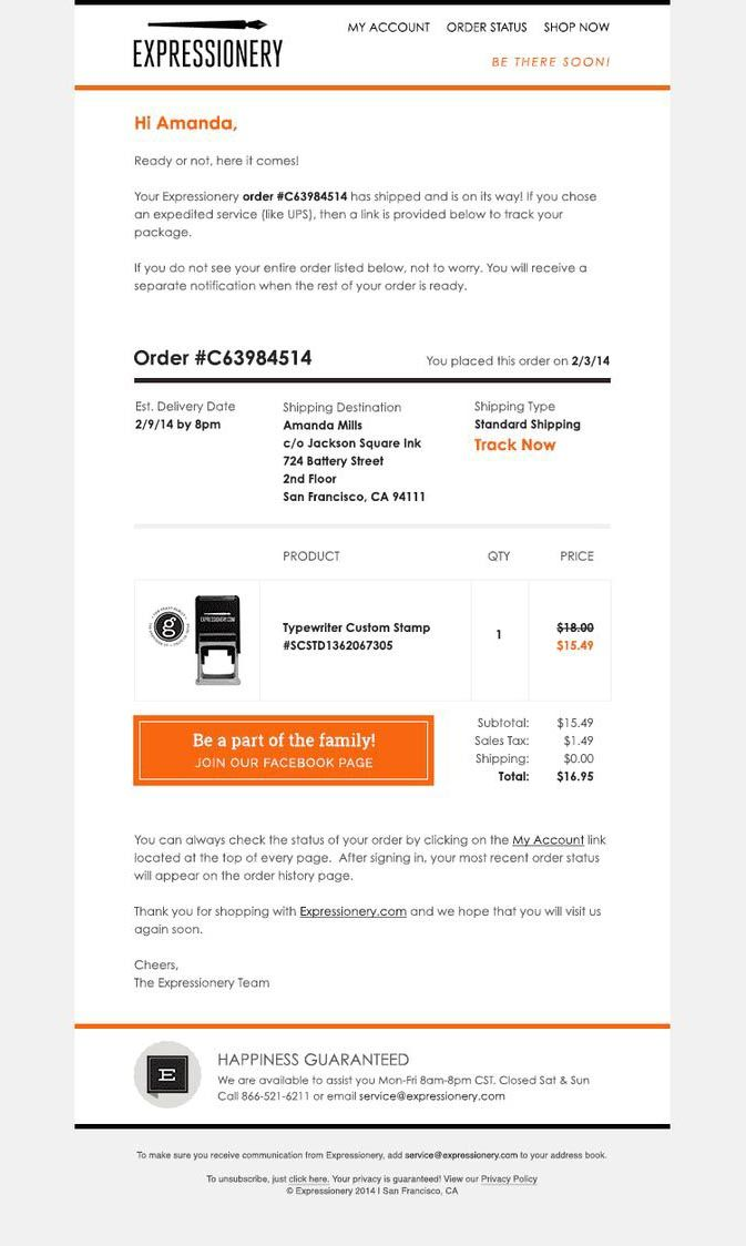 Order Confirmation Email 20 Amazing Templates And Examples