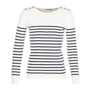 Petit Bateau FITNESS Blanc / Noir pas cher prix Pull Femme Spartoo 94.99 €