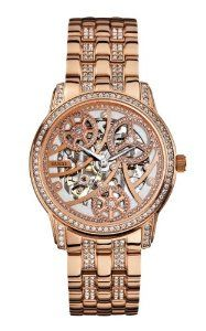 GUESS Women's U30003L1 Automatic Self Wind Rose Gold-Tone Wa | watches.reviewatoz.com