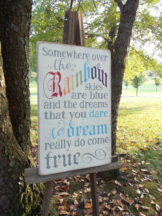 Somewhere Over The Rainbow Vintage Style by primsnposies on Etsy