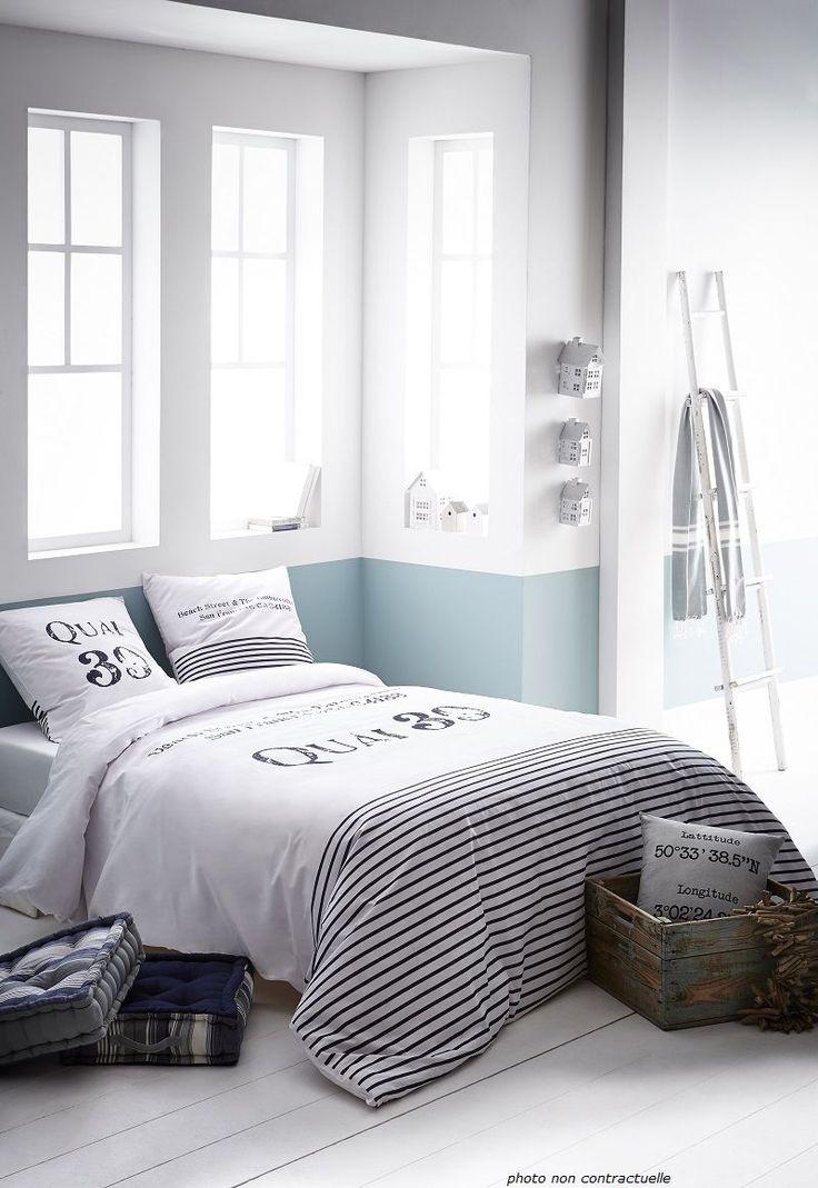 linge de lit centrakor housse de couette x cm taies duoreiller romance with linge de lit. Black Bedroom Furniture Sets. Home Design Ideas