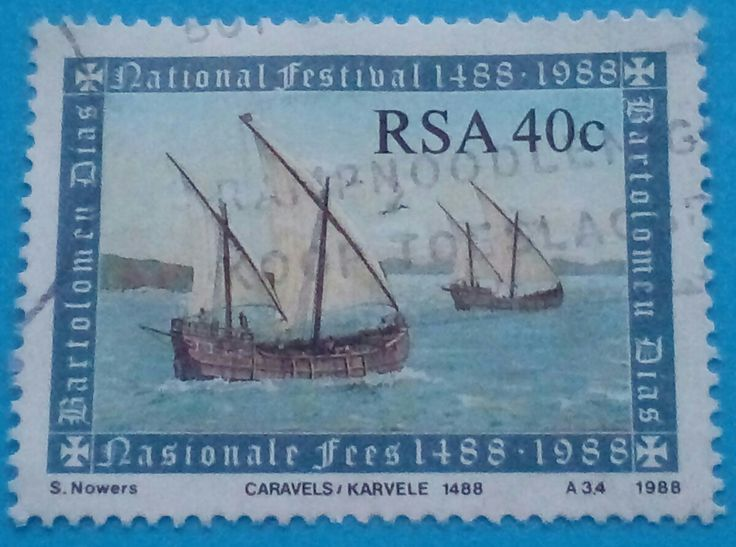 """Stamp 1988 """"Bartolomeu Dias"""", Republic South Africa"""