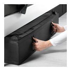 IKEA - SKUBB, Tasche, schwarz, 93x55x19 cm, , Die Tasche passt unter das Bett und eignet sich für Kissen, Decken usw.Schützt Kleidung, Decken, Bettwäsche usw. vor Staub.Dank des Griffs einfach herauszuziehen und zu verschieben.Netzgewebe an den Seiten lässt Luft zirkulieren; so bleiben Textilien in der Tasche frisch und gepflegt.Kann bei Nichtgebrauch Platz sparend zusammengefaltet werden. Einfach den Klettverschluss trennen.