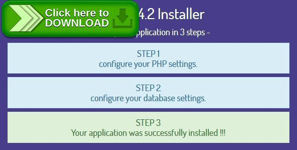 [ThemeForest]Free nulled download Laravel 4.2 Installer - Installation Script from http://zippyfile.download/f.php?id=47590 Tags: ecommerce, install laravel, install manager, install php, installation script, installation wizard, installer, php installer