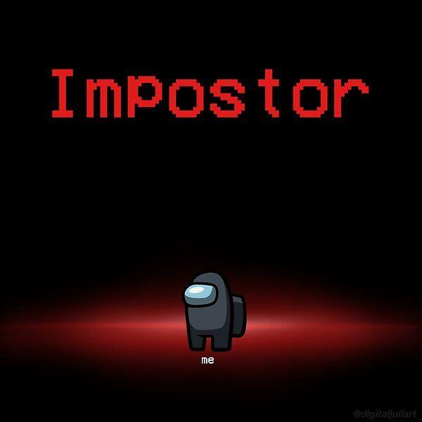 Among Us Black Impostor By Digitaljuliart Redbubble Among Us Black Among Us Wallpapers Black Among Us Wallpaper among us imposter background