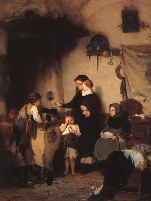 The Orphans - Nikolaos Gyzis  1871