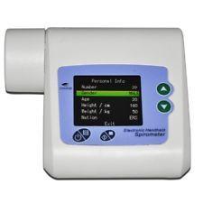 Dispositivo de volumen Contec Ce espirómetro PEF FEFV1 FEF pulmón con Análisis + CD SP10