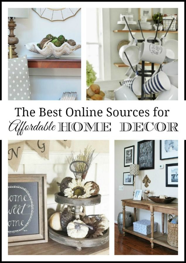 Our Favorite Places To Shop {Online} For Affordable Home Decor | See where to find cheap and inexpensive home accessories--especially farmhouse or vintage style decor by shopping online. 11 Magnolia Lane