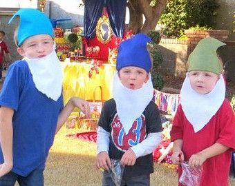 Snow White Dwarfs HATS and BEARDS Seven by PoppysmicBowtique