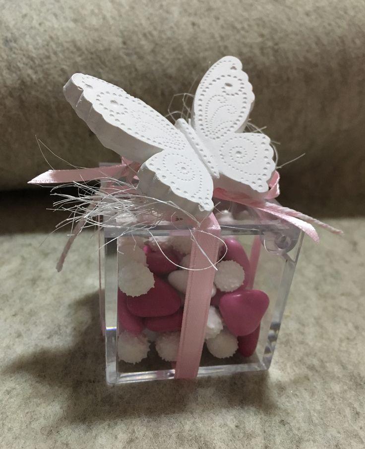 Bomboniera con farfallina profumosa- il filo dei sogni handmade