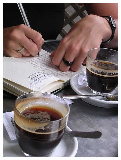 coffee, journal, and a Starbucks or B Cafe or village coffee shop to get lost in my thoughts.....