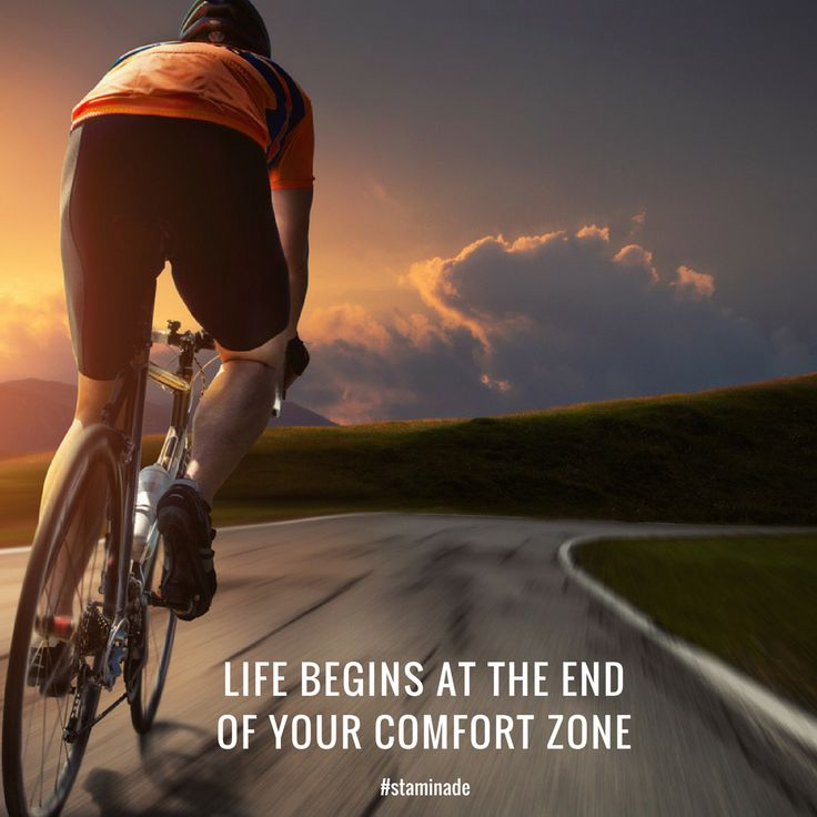 Life begins at the end of your comfort zone. Just when you think it's getting too hard, go the extra step, go harder!
