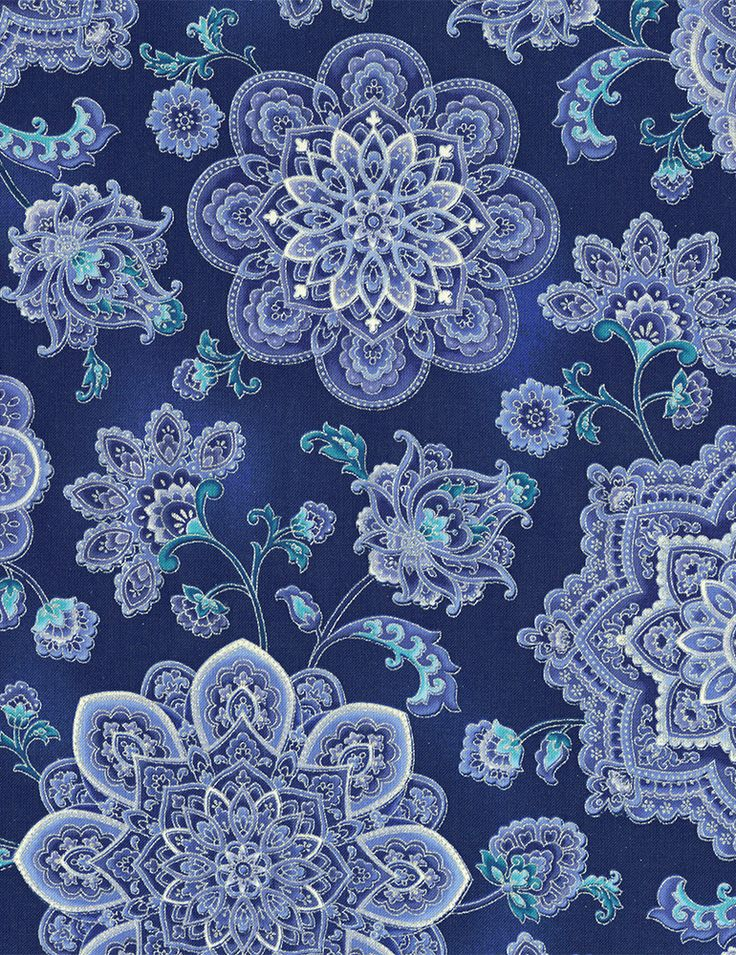 Timeless Treasures - Dutchess Dutchess-CM5226-Blue Dutchess Medallions