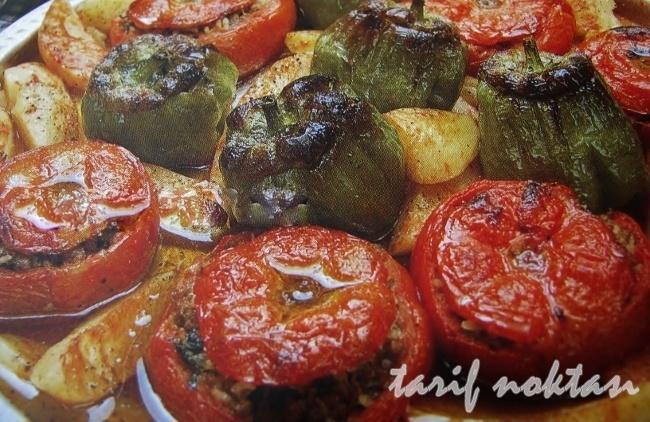 etli biber-domates dolması