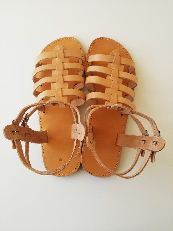 Natural Leather Gladiator Sandals Women Leather by Leatherhood