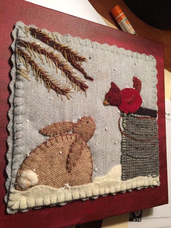Bästa wool applique idéerna på pinterest ull