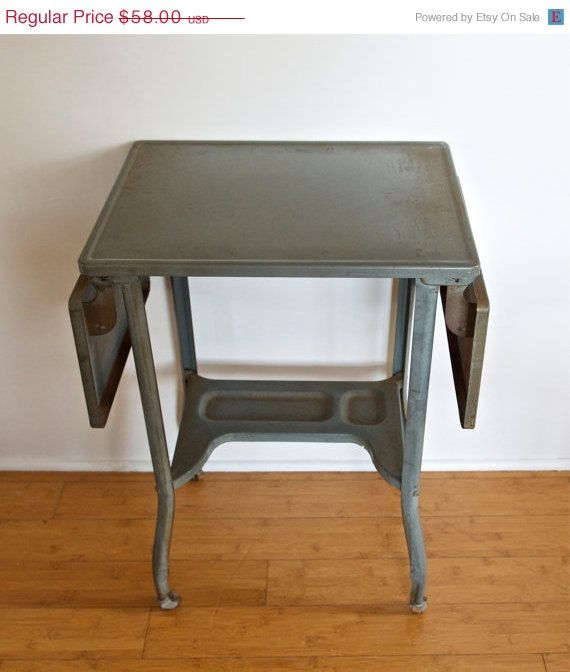 Vintage Typewriter Desk Or Tableu2026rolling Cartu2026expandableu2026Toledo, Ohio