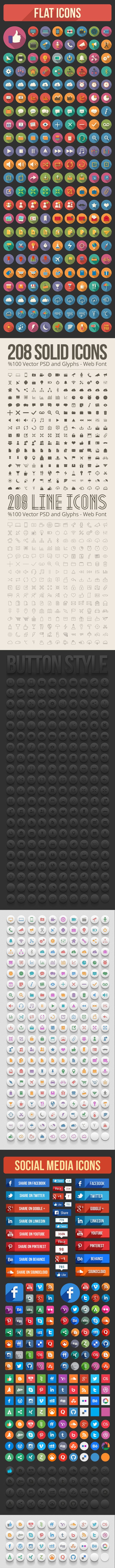 208 Solid Icons