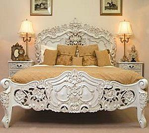 Beautiful Romantic Bed From The Rococo French White Collection Http Www
