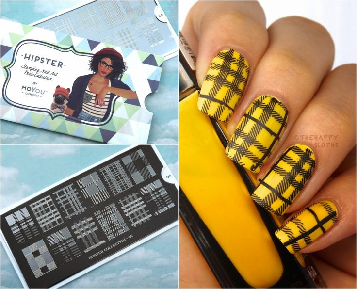 Iggy Azalea/Clueless Inspired Manicure featuring MoYou London Hipster Nail Art Collection Stamping Plate
