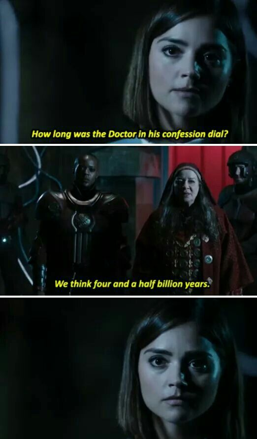 That moment when Clara Oswald, the most caring companion, went from concerned to pure unhindered fury. Demons run when Clara is angry because you hurt her Doctor.