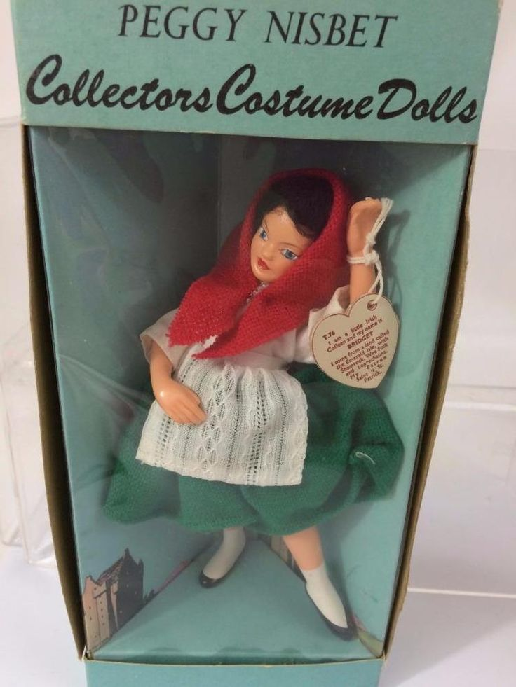 Peggy Nisbet of England makes the highest quality Collector Costume Dolls. Our Bridget is a charming Irish Colleen,  NIB Ireland NWT