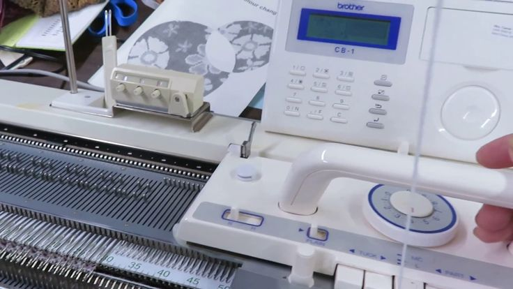 Brother KRC1000E Color Changer in action on the Knitting Machine