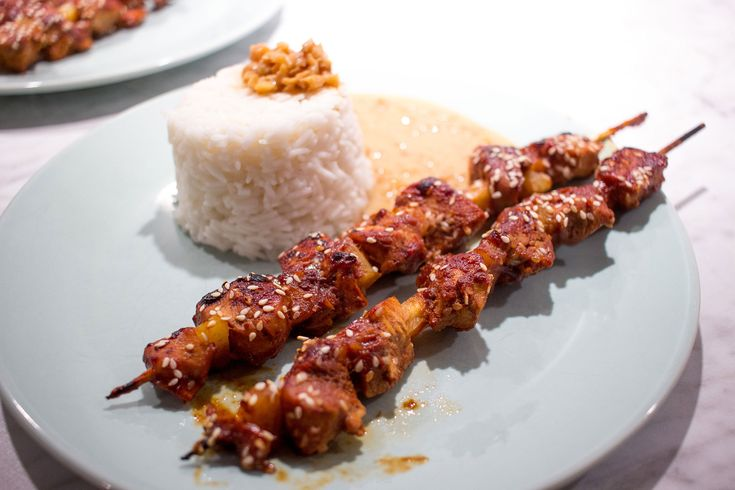 Kycklingspett med jordnötssås / Chicken Skewers with peanut sauce / #recept #recipe #dinner #asianfood #food