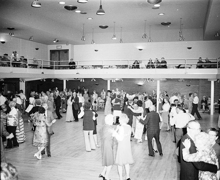 Senior Citizen's Valentine Day dance Seattle 1973. Apparently at the Norway Center. The building was later the Mountaineers Club and was sold in 2008 and demolished for an apartment building.