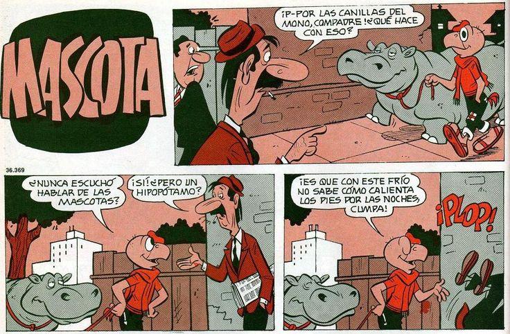 Pero, ¿qué hace Condorito con ese hipopótamo?