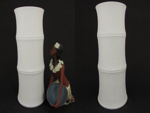 """Große Vintage Op-Art Bisquit Porzellan Vase / Hutschenreuther (Tirschenreuth) / """"Bambus""""   West German Pottery   60er von ShabbRockRepublic auf Etsy"""