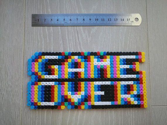 Magnet Sprite Game Over 3d Effect Video Game Hama Beads Pixel Art Perler Beads Sprite Hama Beads Patterns Hama Beads Design Hama Beads
