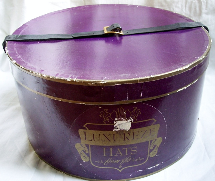 vintage 1950s hat box #millinery #judithm #hats