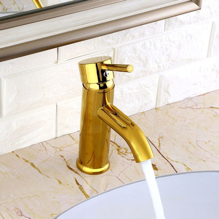 Brewst Modern Single Handle Solid Brass Bathroom Basin Mixer Tap Gold