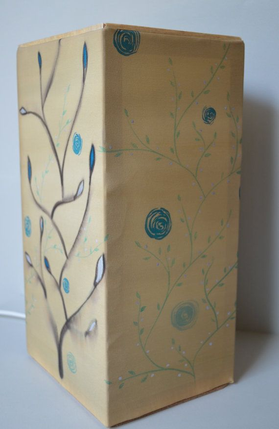 Hand painted silk Lantern. by fourblueowls on Etsy, €60.00