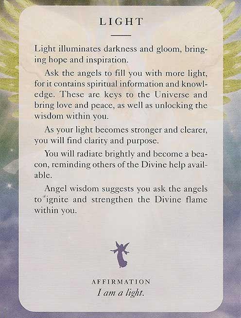 Angel Card: 13 July 2013: Light