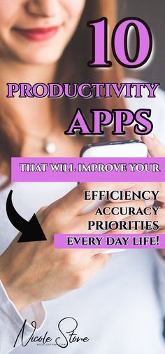 10 Productivity apps to improve you time management and help you get more done. This productivity guide breaks down every app, telling you exactly how it can help you improve your day. find your priorities improve your efficiency. Become more productive: click through to get the 10 free apps! #productive #productivity