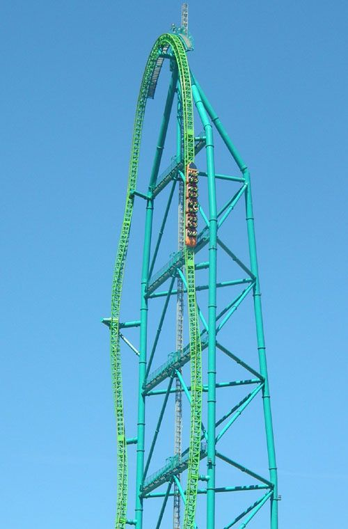 Kingda Ka World's tallest roller coaster, it is at Six Flags in Jackson, New Jersey.  Be sure to watch the video of the ride as seen from the front seat!!  :-P