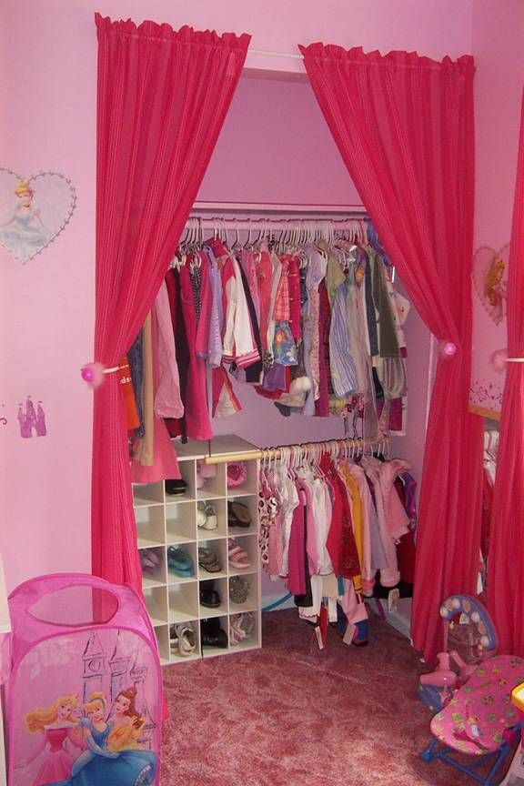 Girls closet organization.  Don't like the colors though!