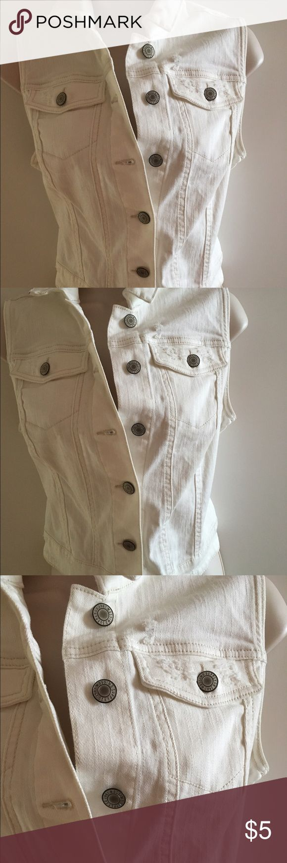White denim vest Like new worn once no stains no rips very cute Mossimo Supply Co. Jackets & Coats Vests