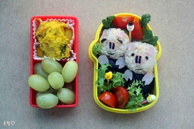 아이 소풍도시락- 꿀꿀이주먹밥 도시락 / 소고기 참치 주먹밥 - Daum 요리