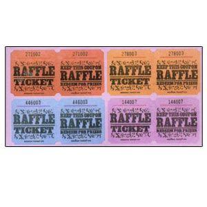 Raffle Tickets (1000 double tickets per roll)