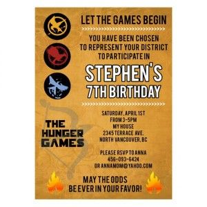 33 best hunger games party images on pinterest hunger games party hunger games party invitations and supplies thepartyanimal blog stopboris Choice Image