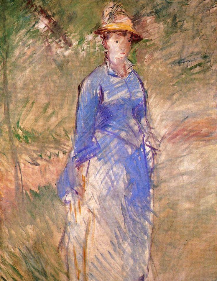 Young woman in the garden - Edouard Manet  http://www.wikiart.org/en/edouard-manet/young-woman-in-the-garden-1882