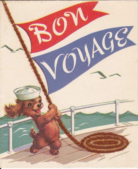 Bon Voyage 1940's Card