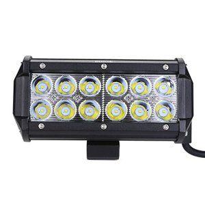 Rupse 36W LED Barre de Travail Phares étanche Longue Portée Led Projecteur pour Véhicule Tout-terrain Atv / Jeep /Bateaux / SUV / Camion /…
