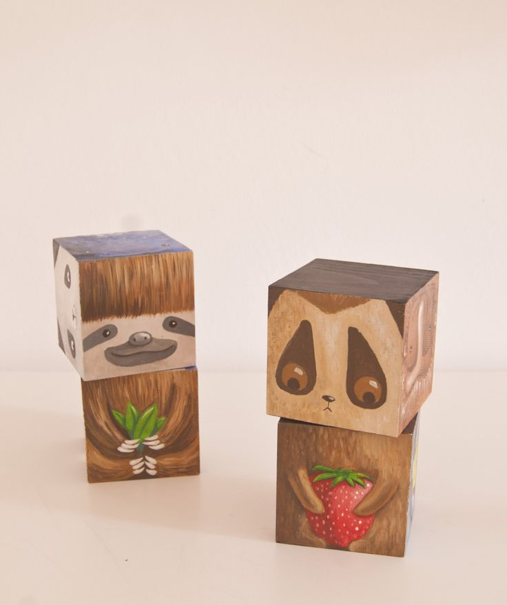 hand painted wood puzzle endangered animals toy