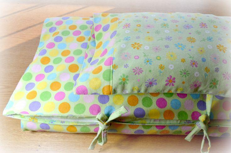 Toddler Bedding, Duvet Cover, Pillow Case & Pillow Sham - Crib Bedding- Flannel Bedding - Dots- Free Gift by DMDesignes on Etsy https://www.etsy.com/listing/119513333/toddler-bedding-duvet-cover-pillow-case