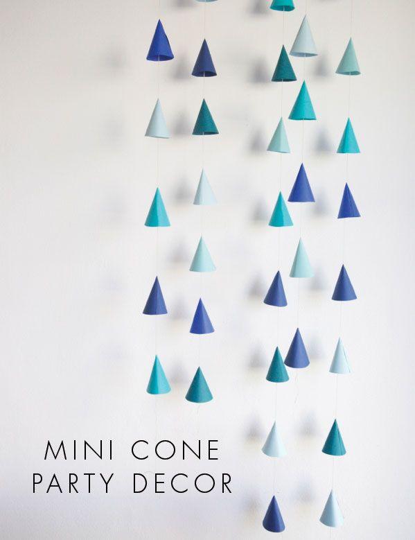 Cone Party Decor DIY